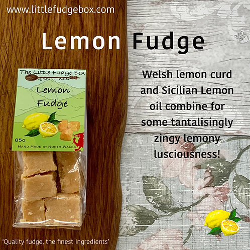 welsh lemon curd fudge little fudge box smooth creamy crumbly texture natural ingredients stocking hamper filler ideas