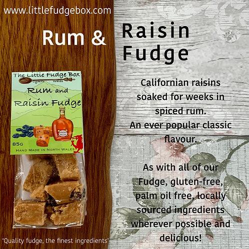 traditional rum and raisin soaked fudge classic little fudge box timeless flavour xmas adult stocking hamper filler idea