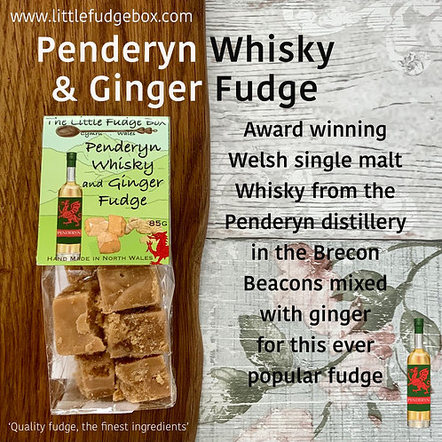 welsh single malt whisky whiskey penderyn crystallised ginger adult christmas stocking filler alcoholic fudge gift