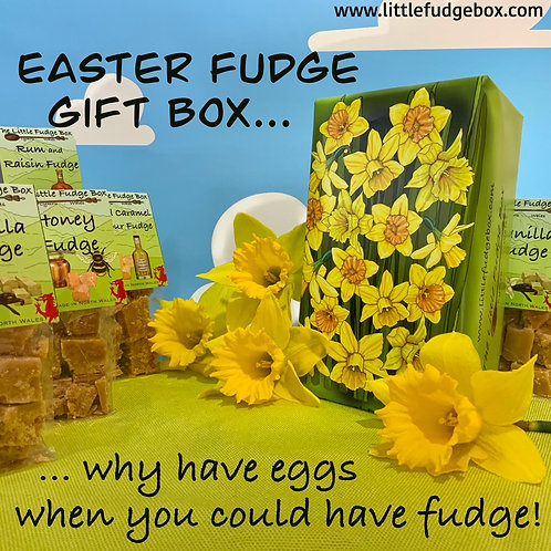 Fudge Gift Box Daffodils delicious personalised Welsh handmade present floral