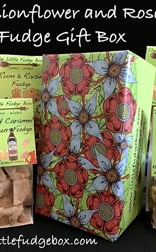Fudge Gift Box 'Roses & passionflower ' choose 5 bags of fudge, build a box!