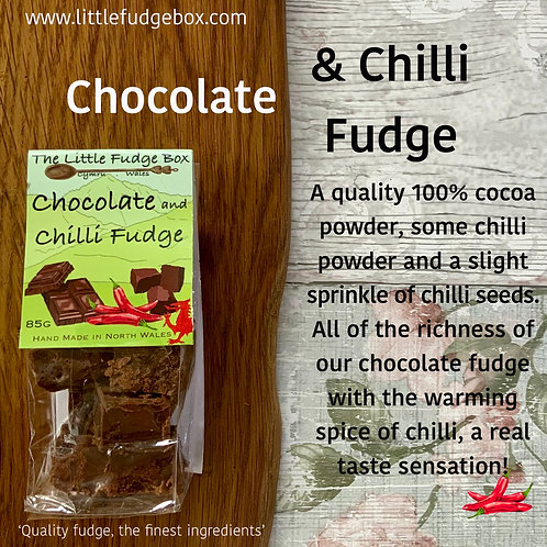 little fudge box chocolate and chilli pepper fudge sweet spicy christmas xmas stocking hamper filler ideas online posting