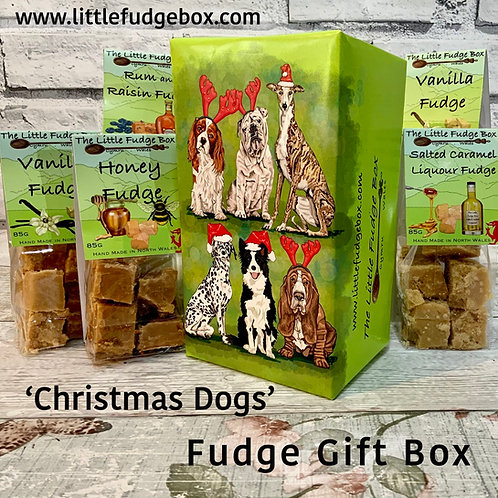Limited Edition 'Christmas Dogs' Fudge Christmas Gift Box 5 bags luxury gift