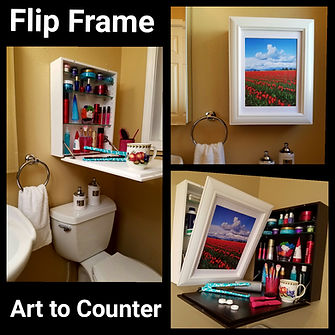 Get Extra Storage and Bonus Countertop with Flip Frame