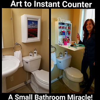 Flip Frame Clears Bathroom Clutter