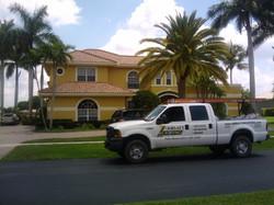 Roll Tile Roof on Estate Home