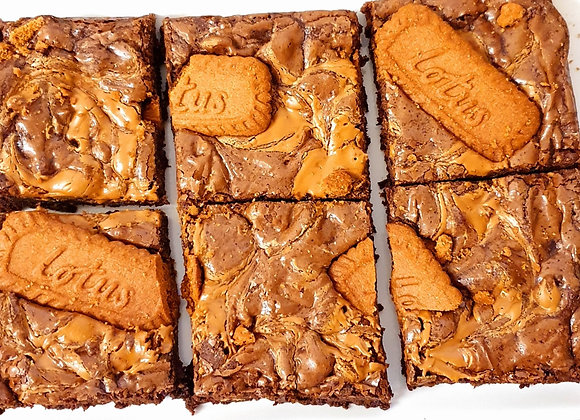 Fudgy Biscoff Brownies
