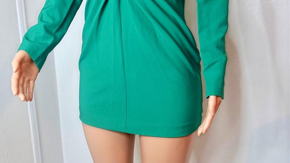 sexy green mini dress (NBD)