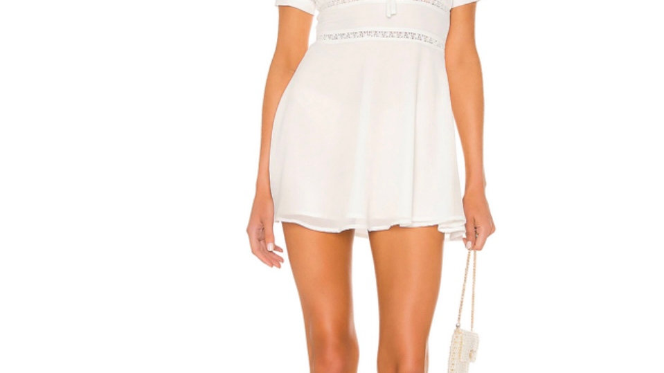 Barlow mini dress in ivory