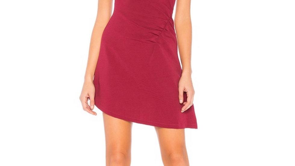 kels mini dress in burgundy