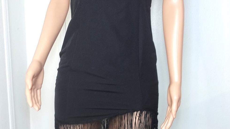 NBD black mini dress