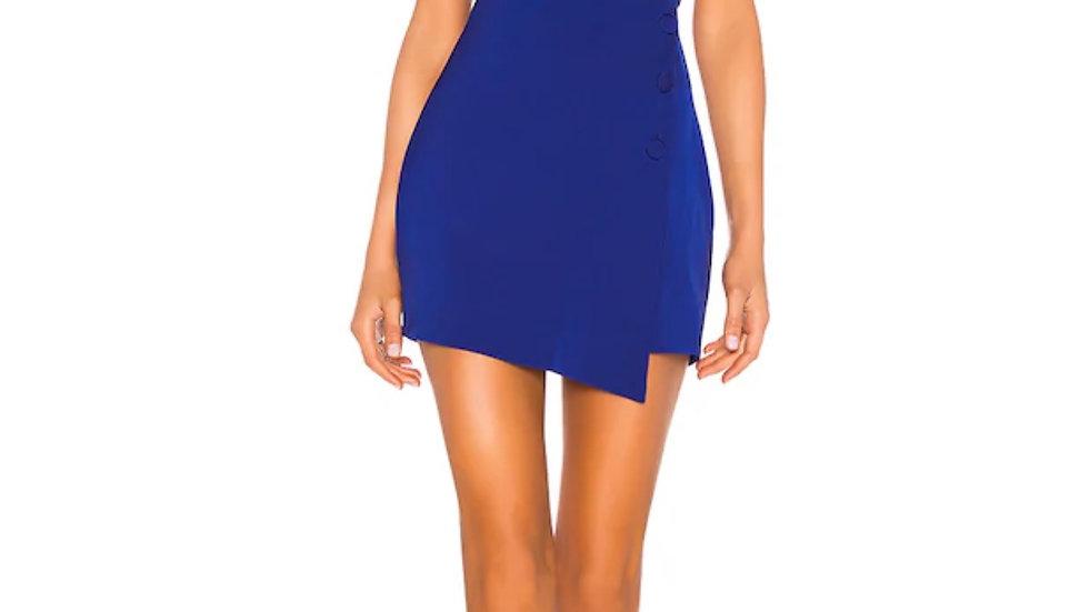 tere mini dress in bright cobalt