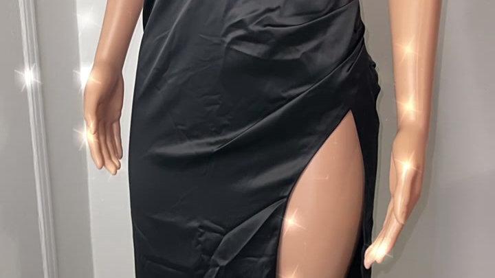 NBD maxi black dress