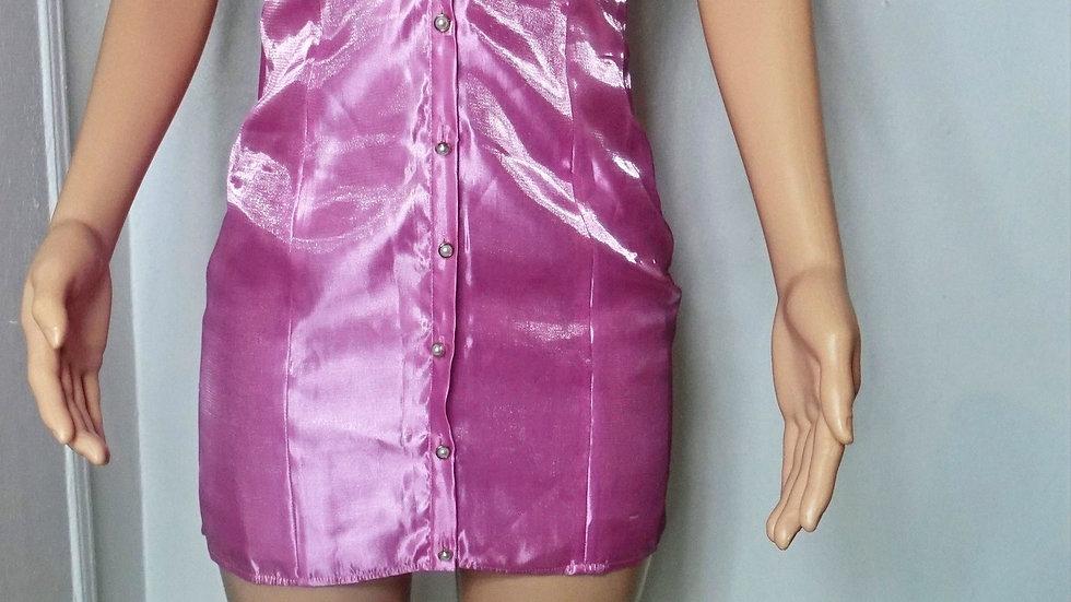 majorelle pink mini dress
