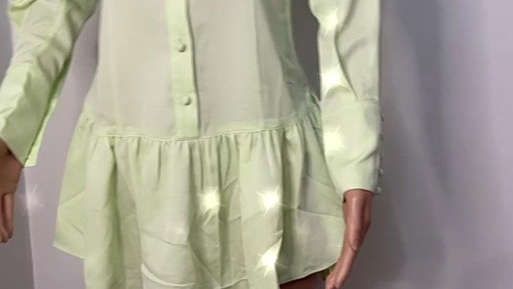 girlfriend malcolm button dress