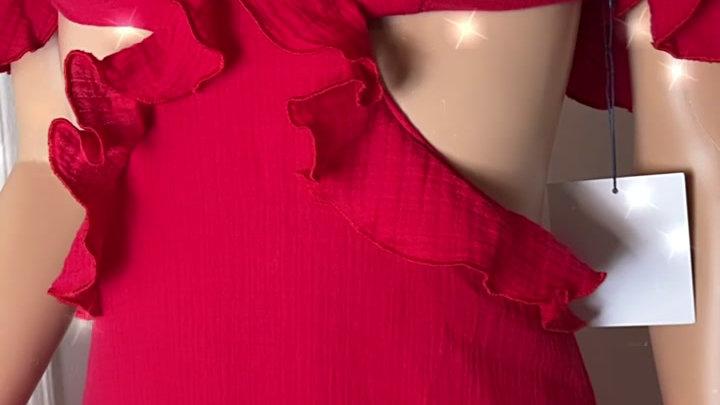 majorelle red mini dress