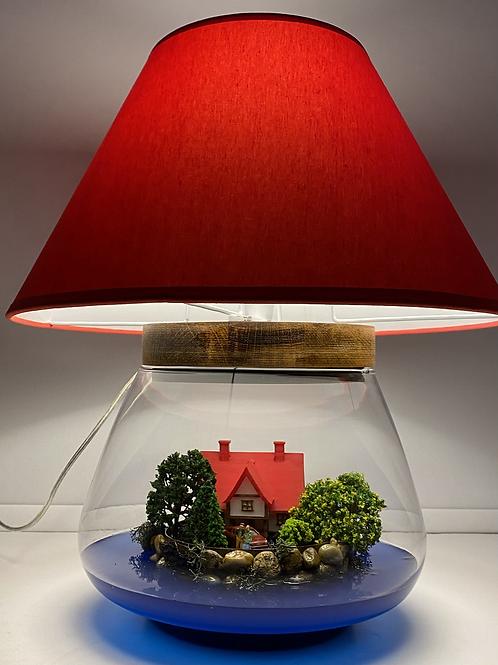Kırmızı Evim Abajur Teraryum