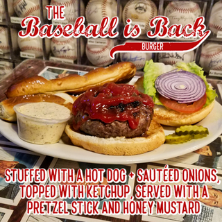 The Baseball is Back Burger