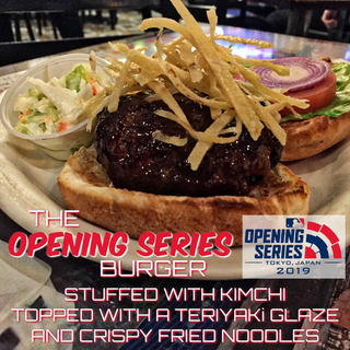The Opening Series Burger: Japanese Style