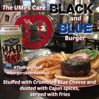 The UMPS Care Black and Blue Burger