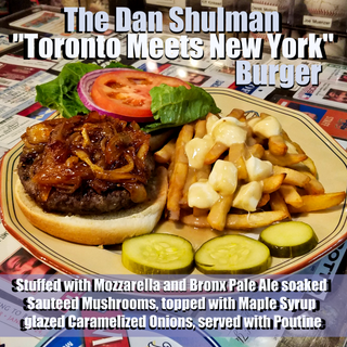 "The Dan Shulman ""Toronto Meets New York"" Burger"
