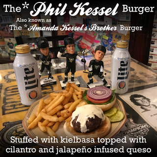 Phil Kessel Burger... Also known as Amanda Kessel's Brother's Burger