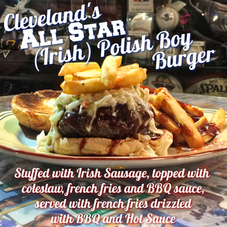 Cleveland's ALL STAR (Irish) Polish Boy Burger