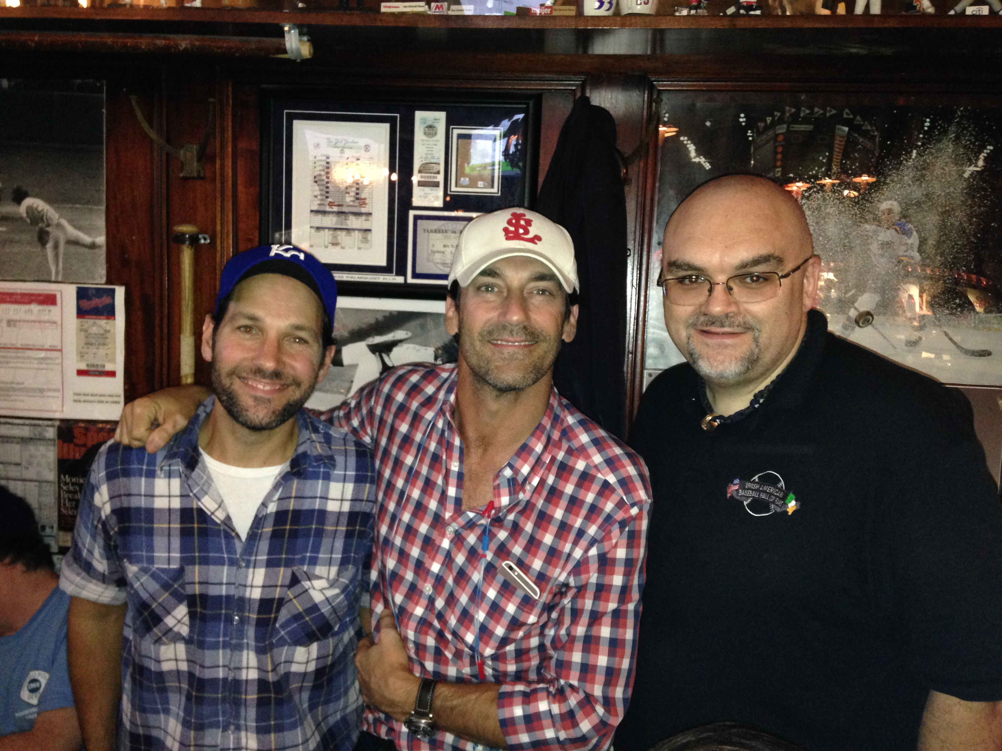 Paul Rudd and Jon Hamm at Foley's
