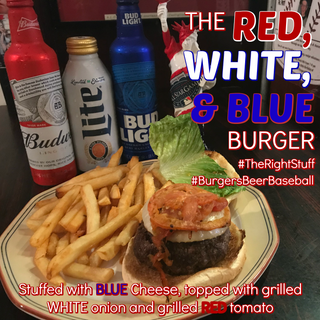 Red, White & Blue Burger