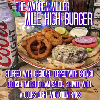 The Warren Miller Mile High Burger