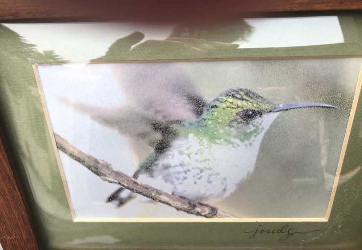 Glass hummingbird
