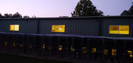 Kennel at twilight