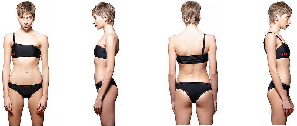 Asymetrical Initials Swimsuit