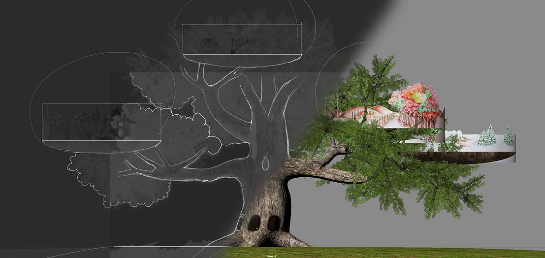 disegno Progetto Albero 3D