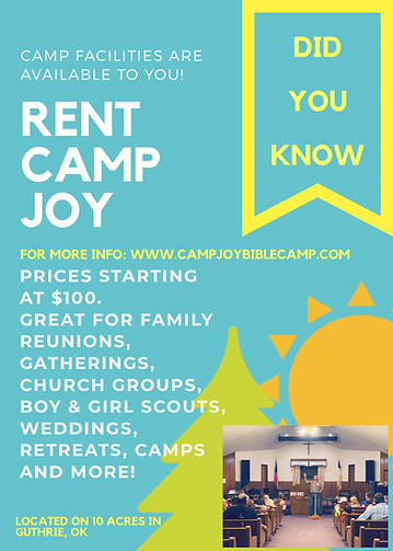 Camp JOY Rental Guthrie Oklahoma