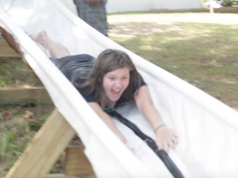 The Camp JOY Water Slide is BACK!