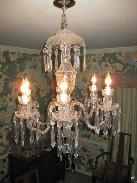 WATERFORD AVOCA 6 ARM CHANDELIER