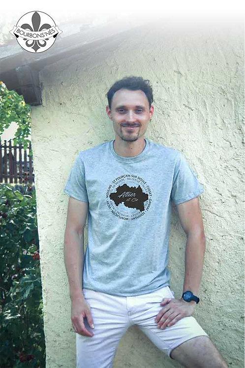 "T-shirt Homme ""Carte Allier & Cie"""