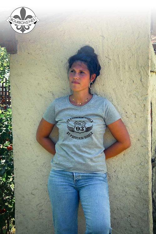 "T-shirt Femme ""Made in Saint-Pourçain"""