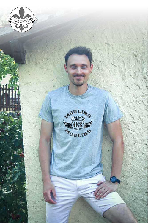 """T-shirt Homme """"Made in...Moulins"""""""