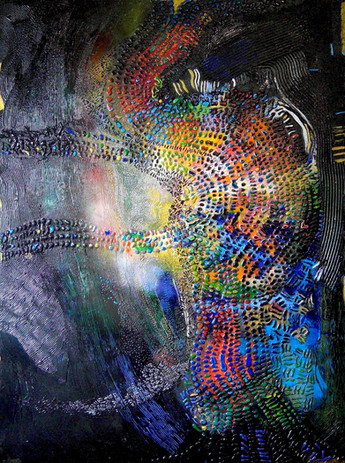 """5, Title #6 Courage & Beauty 48""""x36"""" Media"""