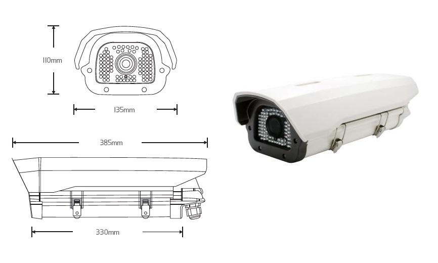 CVT-H84E: STARVIS 2.1M Outdoor 84IR, Low light sensor