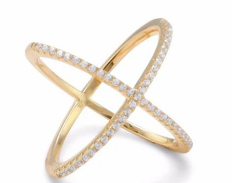 Gold Criss Cross Ring