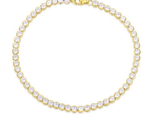 Baby Bezel Tennis Bracelet - Gold