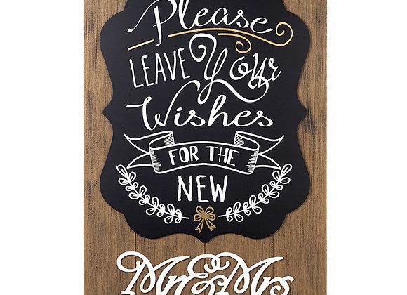 Wishes Mr&Mrs sign