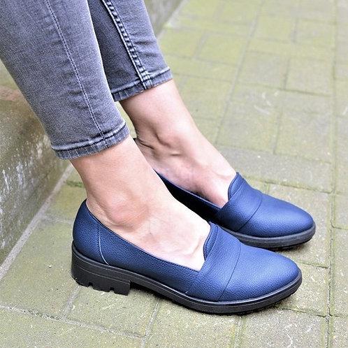 Лоферы Агата, цвет синий