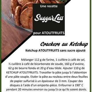 Recette Crakers au Ketchup