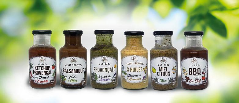Gamme cuisine de Manon marinades et sauces