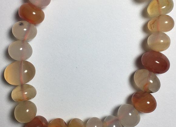 Carnelian Gemstone Bracelet - Large Bead