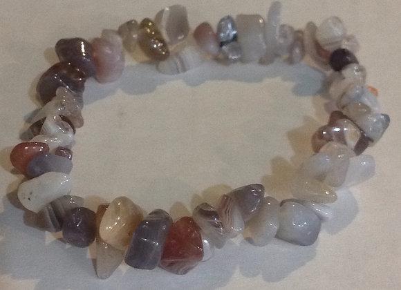Botswana Agate Gemstone Chip Bracelet